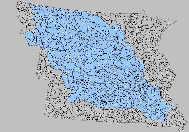 missouri river basin from usgs map of watershed units can you find the st vrain and boulder creek watershed