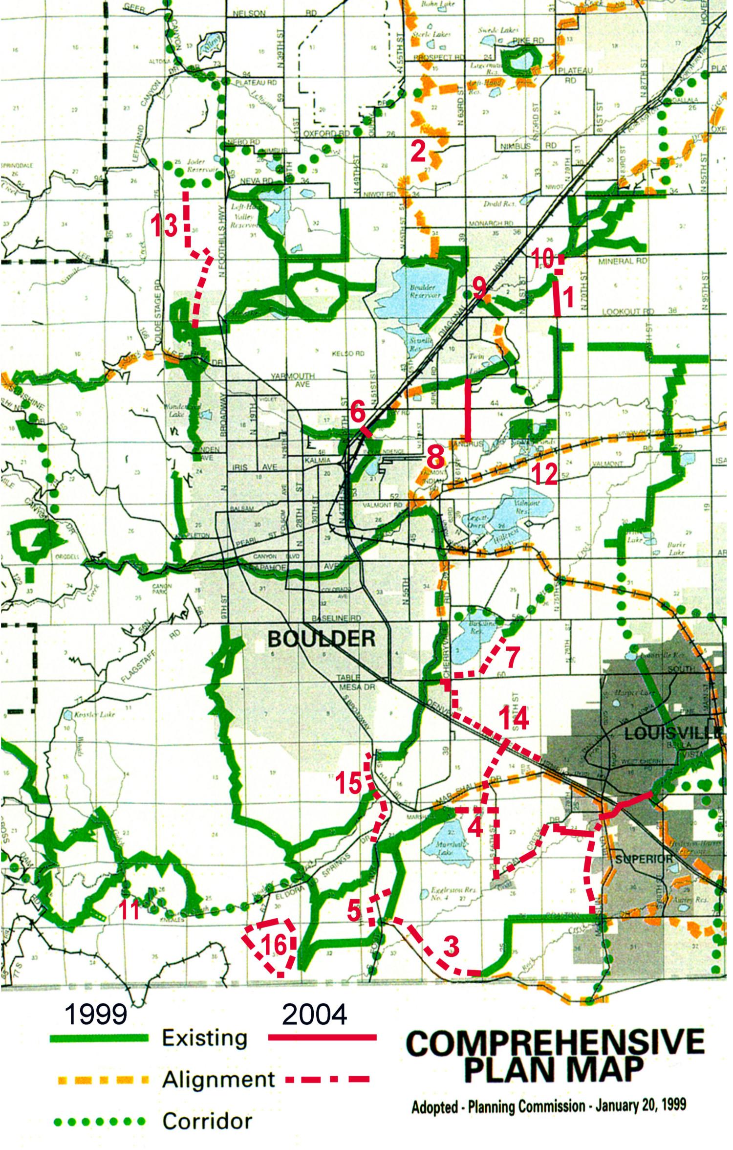 Boulder Valley Comprehensive Plan Trails Map Updates - Boulder bike path map